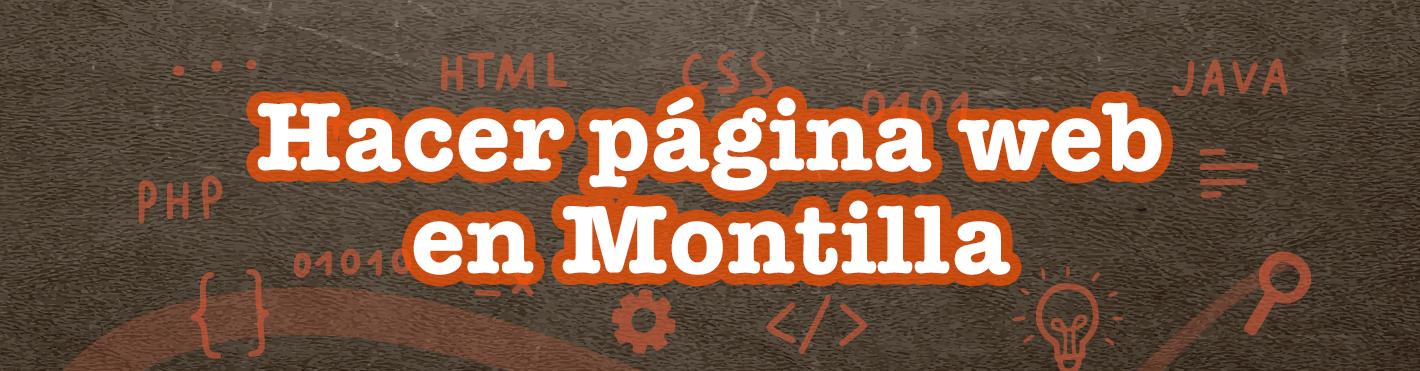 Hacer página web en Montilla